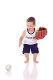 Śliczna mała sporty chłopiec Obrazy Royalty Free