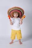 Śliczna chłopiec z sombrero obrazy royalty free