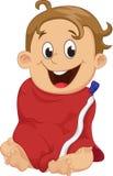 Śliczna chłopiec zawijająca w kąpielowym ręczniku Obraz Royalty Free