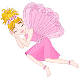 Śliczna czarodziejka w menchii sukni śpi, eps 10 Fotografia Royalty Free