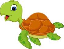 Śliczna dennego żółwia kreskówka Zdjęcia Royalty Free