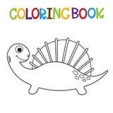 Śliczna Dino kolorystyki książka royalty ilustracja