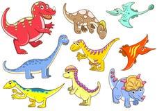 Śliczni dinosaury Fotografia Royalty Free
