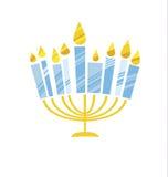 Śliczna dzieciaka stylu Hanukkah menora wektoru ilustracja