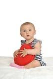 Śliczna dziecka serca poduszka Obrazy Stock