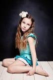 śliczna dziecko dziewczyna Portret młody nastoletni fotografia stock