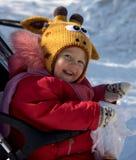Śliczna dziewczyna w śmiesznym witer kapeluszu Zdjęcie Royalty Free