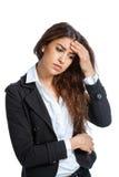 Śliczna dziewczyna z migreną Zdjęcie Royalty Free