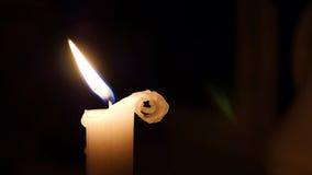 Śliczna Fryzuje świeczka zdjęcia royalty free