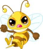 śliczna gniewna pszczoła Fotografia Royalty Free