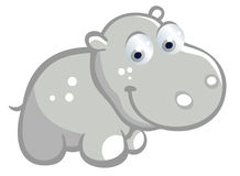 Śliczna hipopotam kreskówka Obraz Royalty Free