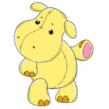 Śliczna hipopotam miękkiej części zabawka Fotografia Stock