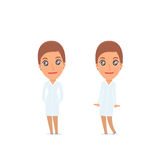 Śliczna i Czule charakter pielęgniarka w pozach royalty ilustracja
