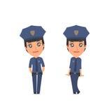 Śliczna i Czule charakter policja w ilustracji