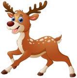 Śliczna jelenia kreskówka ilustracja wektor