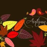 śliczna jesień ilustracja ilustracja wektor