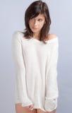 Śliczna kobieta W pulowerze Bez spodń obraz stock