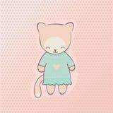 Śliczna kot odzież Zdjęcie Royalty Free