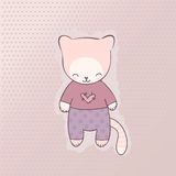 Śliczna kot odzież Fotografia Royalty Free