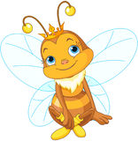 Śliczna królowej pszczoła ilustracji