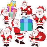 Śliczna kreskówka Święty Mikołaj kolekcja ilustracji