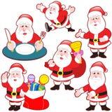 Śliczna kreskówka Święty Mikołaj kolekcja royalty ilustracja