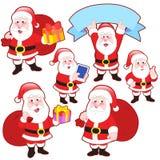 Śliczna kreskówka Święty Mikołaj kolekcja ilustracja wektor