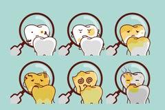 Śliczna kreskówka gnijący ząb ilustracji