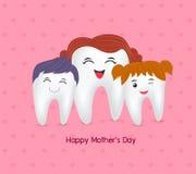Śliczna kreskówka zębu rodzina Zdjęcie Stock