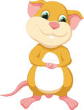 śliczna kreskówki mysz Obrazy Royalty Free
