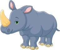 śliczna kreskówki nosorożec Zdjęcia Stock