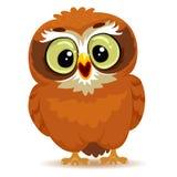 śliczna kreskówki sowa fotografia stock