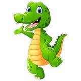 Śliczna krokodyla falowania ręka Obrazy Royalty Free