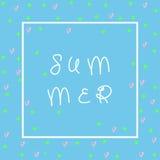 Śliczna lato karta Doskonalić dla zaproszenia, scrapbooking, sieci, karty, blogu, sprzedaży, kalendarz pokrywy, notatek i wiele i Obraz Stock