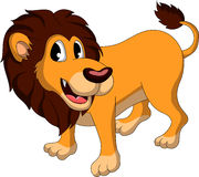 Śliczna lew kreskówka Obraz Royalty Free