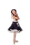 Śliczna młoda balerina wysyła lotniczego buziaka kamera Zdjęcie Stock
