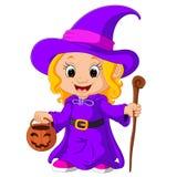Śliczna młoda czarownica ilustracja wektor