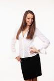 Śliczna młoda biznesowa kobieta Zdjęcia Royalty Free