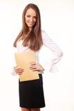 Śliczna młoda biznesowa kobieta Obrazy Royalty Free