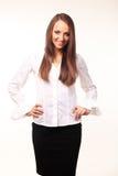 Śliczna młoda biznesowa kobieta Obrazy Stock