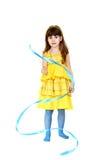 Dziewczyna z błękitnym faborkiem Obrazy Royalty Free