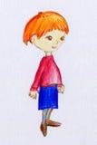 Śliczna mała dziewczynka z imbirowym włosy Zdjęcia Stock
