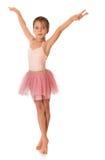 Śliczna mała gimnastyczka Zdjęcia Royalty Free