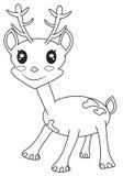 Śliczna mała jelenia kolorystyki strona Obrazy Stock