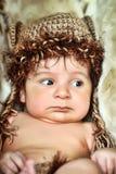 Śliczna mała Nowonarodzona chłopiec obraz stock