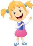 Śliczna małej dziewczynki falowania ręka Zdjęcia Royalty Free