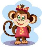 Śliczna Małpia dziewczyna Obrazy Stock