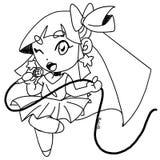 Śliczna megagwiazda dziewczyna royalty ilustracja