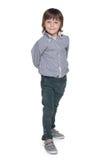 Śliczna mod potomstw chłopiec fotografia royalty free