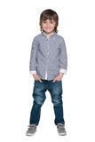 Śliczna mody chłopiec obrazy royalty free